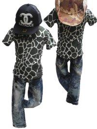 【激安SALE】人気のアニマル★【RUDE ROCK Rude Rock】アニマル総柄Tee Tシャツ KIDS キッズ 110cm 120cm 130cm  140cm 150cm