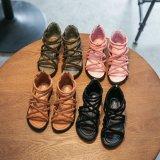 子供 女の子 靴 サンダル 【海外ブランド】グラディエーター スエードサンダル